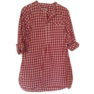 Heritage 1981 Gingham Check Tunic Top Medium